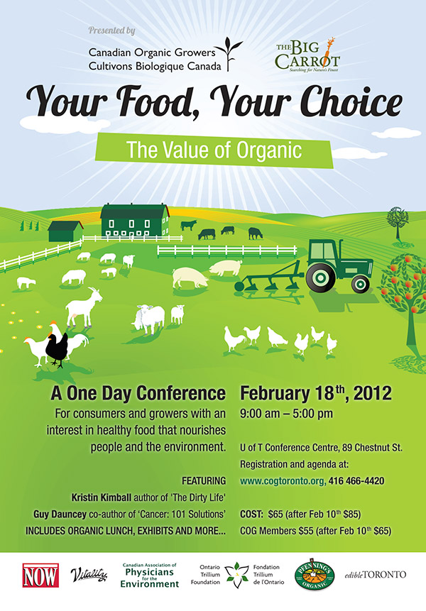 Canadian Organic Growers 2012 TTC poster
