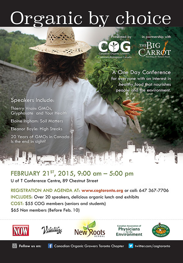 Canadian Organic Growers 2015 TTC poster