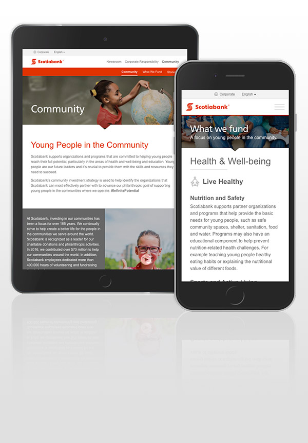 Scotiabank Community, mobile devices