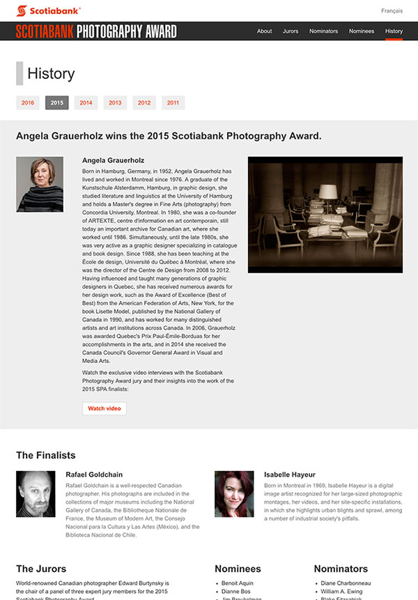 Scotiabank Photography Awards, history